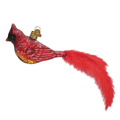 Vintage Cardinal Glass Ornament