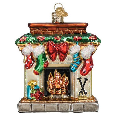 Holiday Hearth Glass Ornament