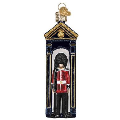 Buckingham Palace Guard Glass Ornament