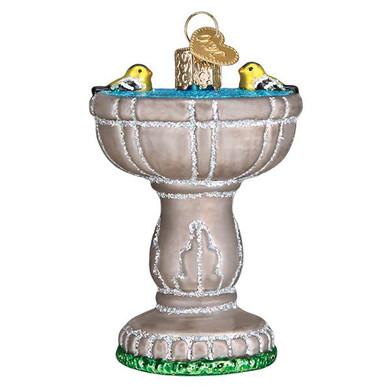 Birdbath Glass Ornament