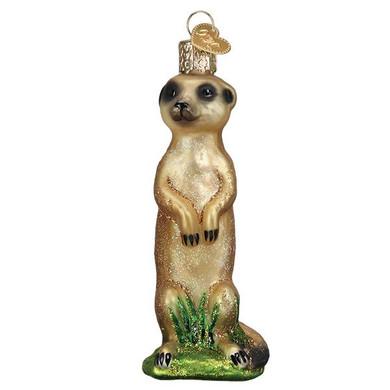 Meerkat Glass Ornament