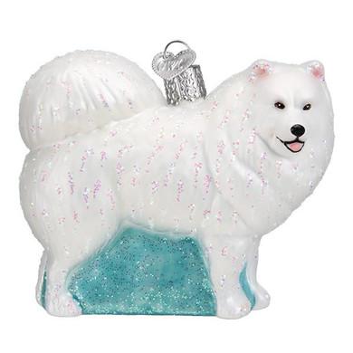 Samoyed Glass Ornament