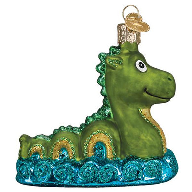 Scotland Loch Ness Monster Glass Ornament