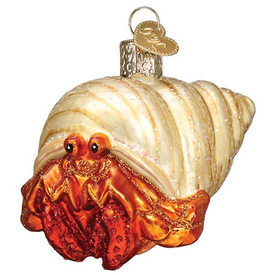 Hermit Crab Glass Ornament