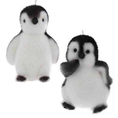 Flocked Penguin Chick Ornament