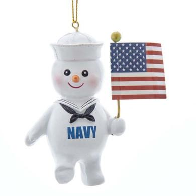 Snowman Navy Ornament