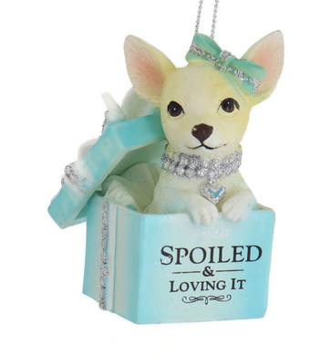 Spoiled Chihuahua Ornament