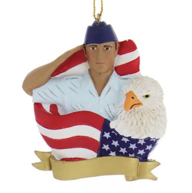 Hispanic U.S. Air Force Airman Ornament