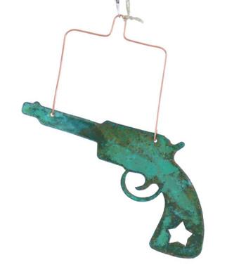 Revolver Copper Ornament