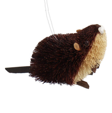 Buri Bristle Brown Beaver Ornament