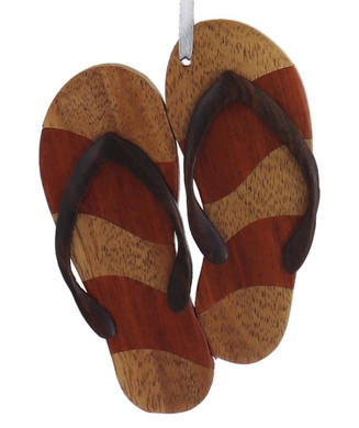 Intarsia Wood Flip Flop Ornament