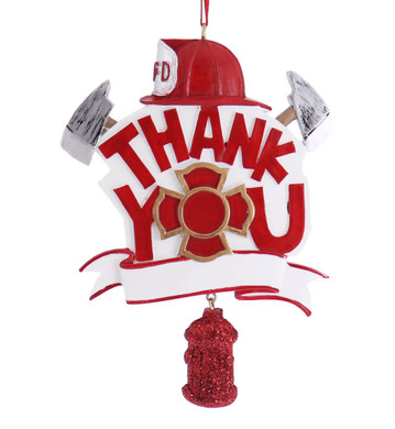 Thank You Fire Department Ornament