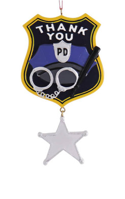 Thank You Police Department Ornament