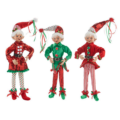 Bright Posable Elf Doll Shelf Sitter Figurines 4002219