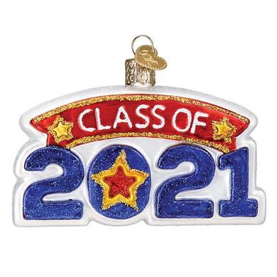 Class Of 2021 Glass Ornament Ornament
