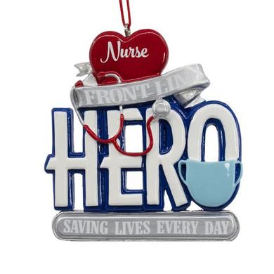 Front Line Hero Nurse Ornament