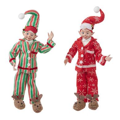 "Posbale Fun Bedtime Pajamas Elf Doll Figurine - Shelf Sitter, 16"", RA4002223"