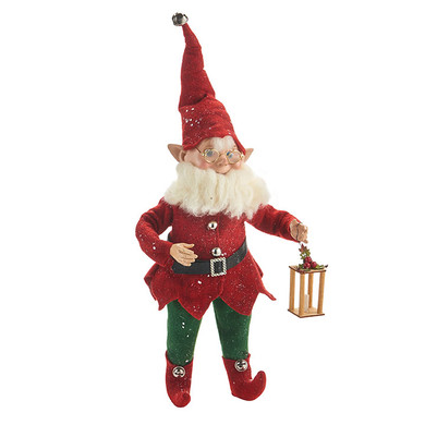 "Posable Gnome Elf Doll Figurine - Shelf Sitter, 18"", RA4002314"