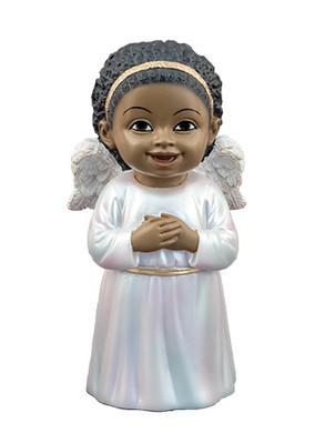 "Black Cherub Singing Figurine, 5 1/4"", PG15236"