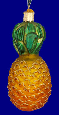 Pineapple Fruit Old World Christmas Glass Ornament 28013