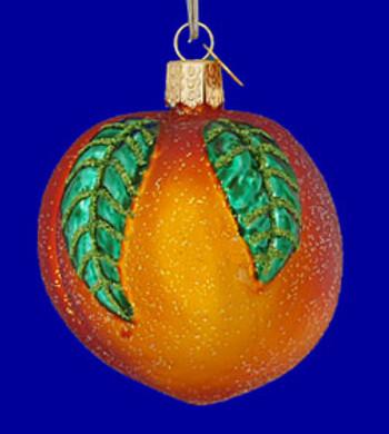 Peach Fruit Old World Christmas Glass Ornament 28096