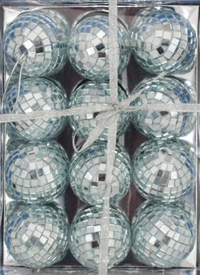 Mirrored Disco Ball Ornaments 2 inch 12 pc set