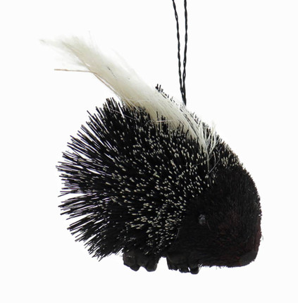Fun Buri Bristle Woodland Animal Porcupine Ornament