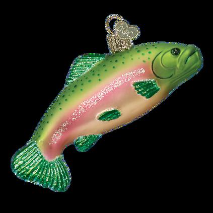 Rainbow Trout Glass Ornament