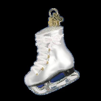 Ice Skate Glass Ornament