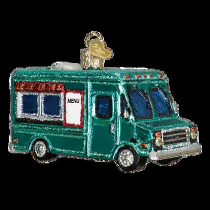 Food Truck Glass Ornament