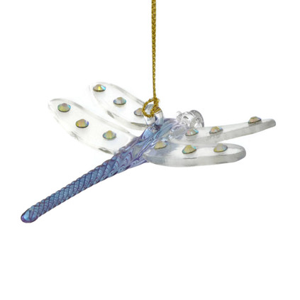 Dragonfly Mouth-Blown Egyptian Glass Ornament