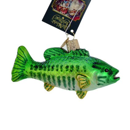 Smallmouth Bass Glass Ornament 12522 Old World Christmas