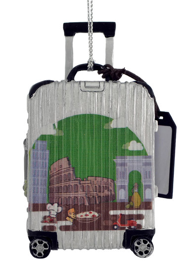 Europe Travel Luggage Italy Ornament