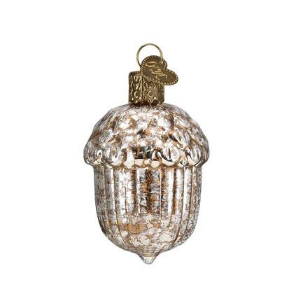 """Vintage Acorn Glass Ornament, 2 1/2"""", OWC# 51015"""