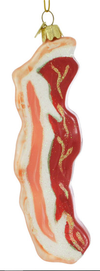 Strip of Bacon Glass Ornament