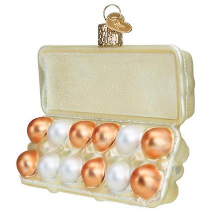 Egg Carton Glass Ornament