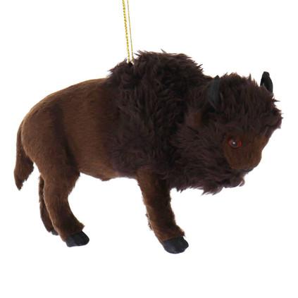 Furry American Buffalo Ornament