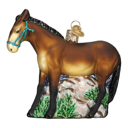 Mule Glass Ornament