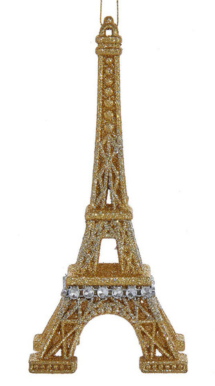 Mostly Gold Eiffel Tower Ornament