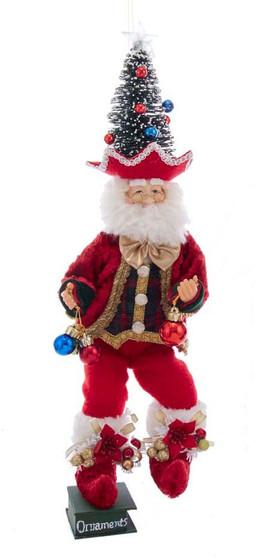Kringle Klaus Tree Hat Bakery Elf Ornament - Shelf Sitter