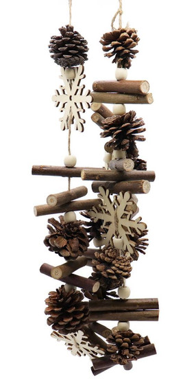 Pinecones and Snowflakes Lodge Garland