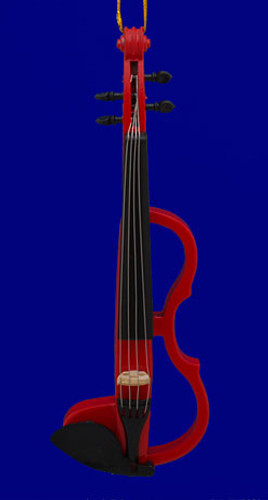 Electric Violin Ornament Red 5.625