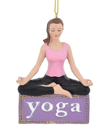 Young Female Yoga Ornament c7977