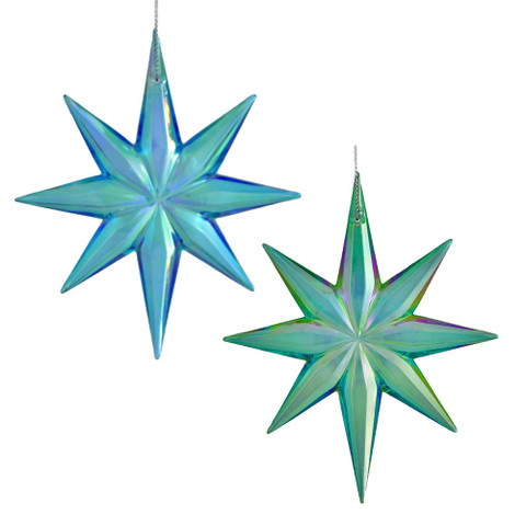 "Blue or Green Star of Bethlehem Ornament, 4 3/4"", KAT2465"