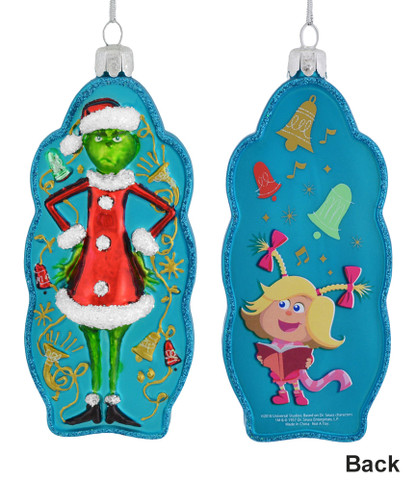 The Grinch and Cindy Lou Glass Ornament
