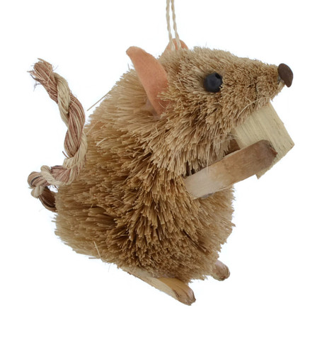 Munching Bristle Buri Brown Mouse Ornament
