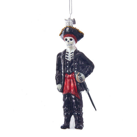 "Skeleton Pirate Glass Ornament, 5 3/8"", KANB1385"
