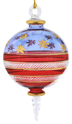 USA Stars and Stripes Mouth-blown Egyptian Glass Ornament