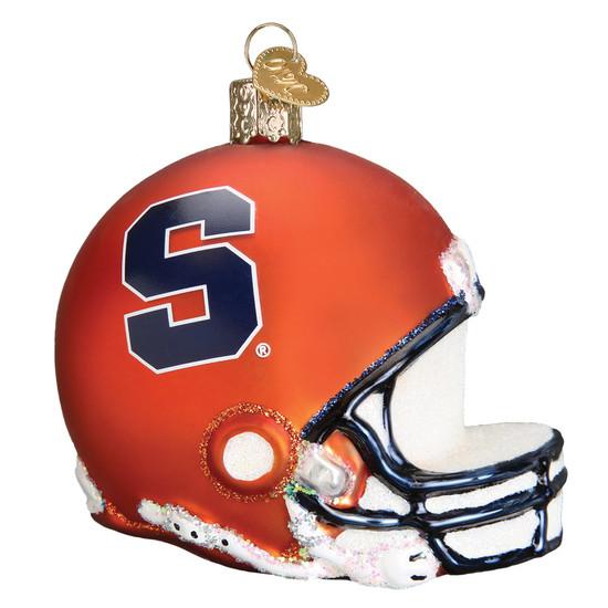 NCAA Syracuse Football Helmet Glass Ornament 65317 Old World Christmas