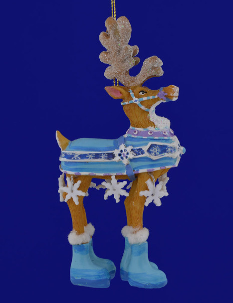 Dressed Up Reindeer Ornament D2537